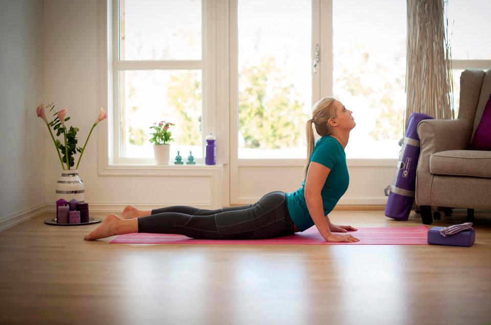 Yogamatten er din personlige arena