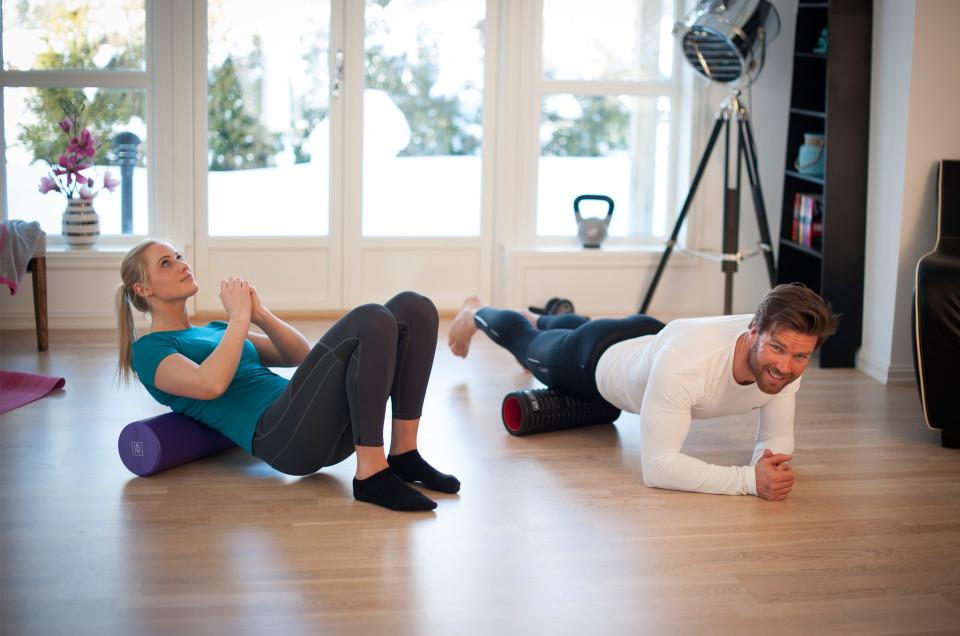 Bruk foamroller for å løsne opp stiv muskulatur!