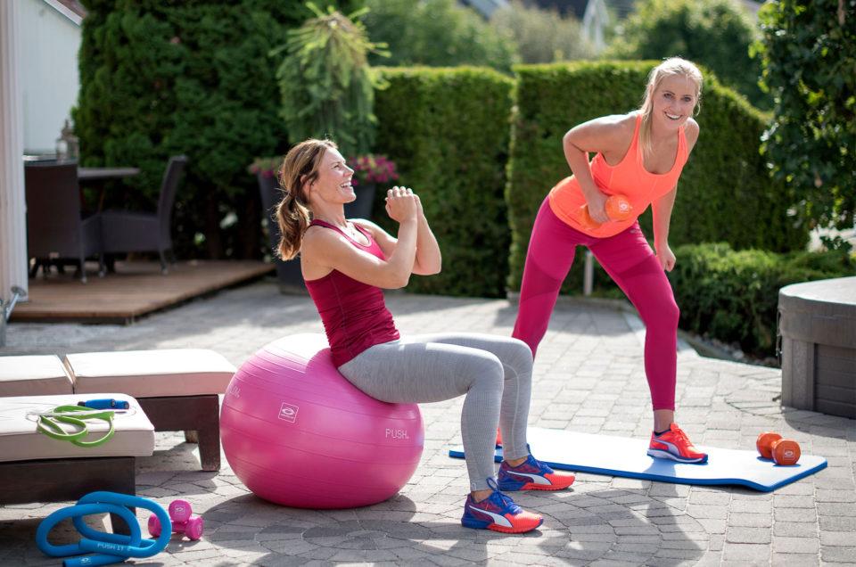 Hjemmetrening med fitnessball